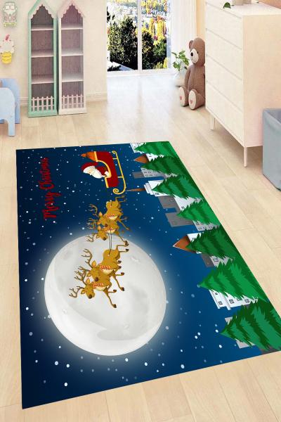resmiro - Noel Tasarımlı Dijital Baskılı Halı